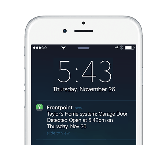 With a Garage Door Sensor you can get a custom email or text alert to notify you of an alarm or when you\u0027ve left your garage door open.