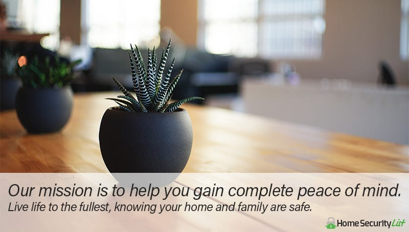 Peace Of Mind Home Security List