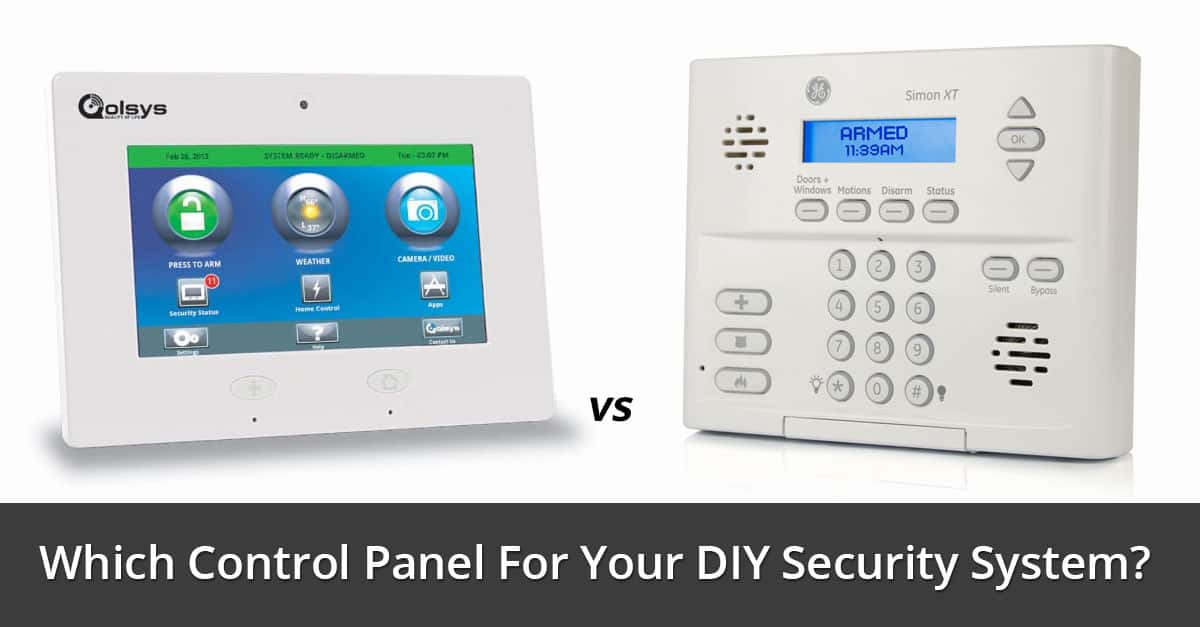 Vivint Alarm System >> Qolsys IQ vs GE Simon XT - Which Control Panel For Your DIY Security System? - Home Security List